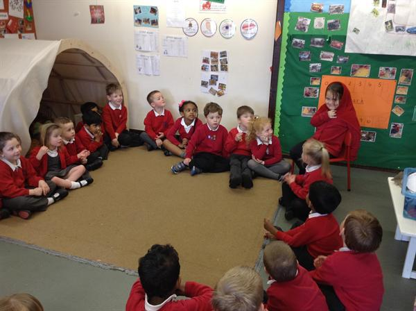 Hot seating- Little Red Riding Hood.