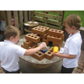 Outdoor role play and construction
