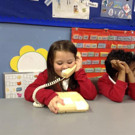 Talking telephones-asking for help.