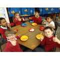 Enjoying some Chinese food in Golden Time!