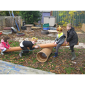 We made a seesaw!