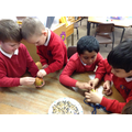 Creating bird feeders