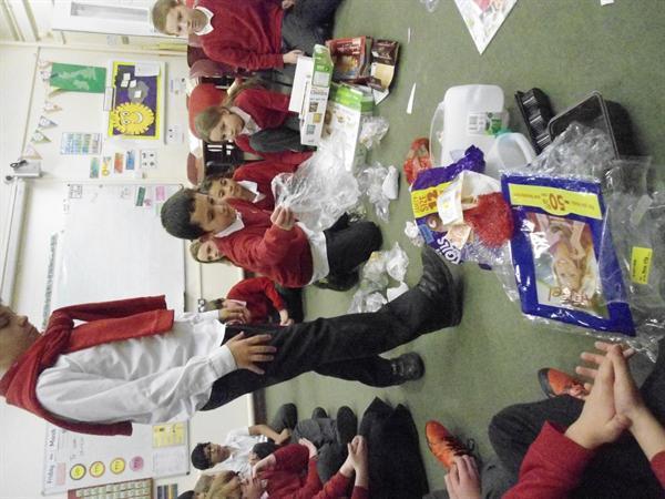 Sorting rubbish (materials)
