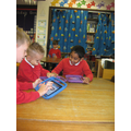 Creating pictures of Jolly Postman characters