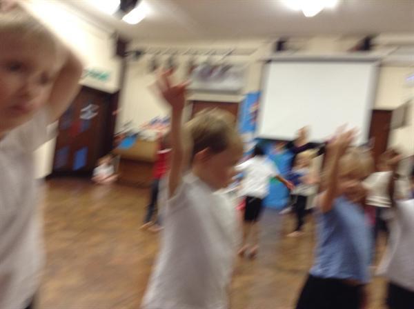 Photographs taken by children - THE dance practise