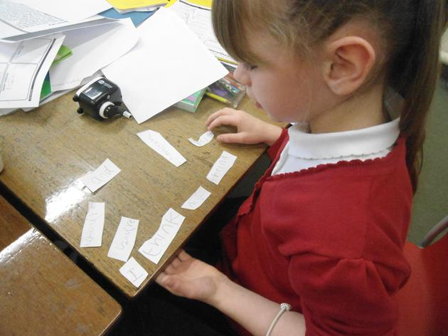 Re-arranging our partners sentences from Charlottes Web