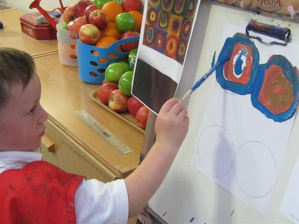 Re-creating Kandinsky's circles for a display