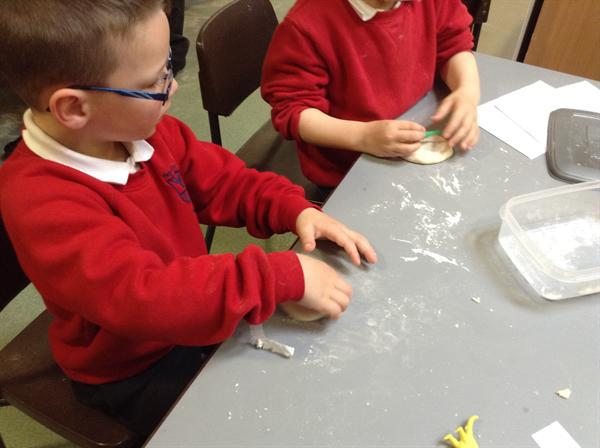 Nursery-making fossil necklaces.