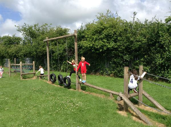 Physical play on the Jungle gym!