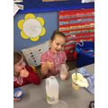Reception reviewing their smoothies :-0