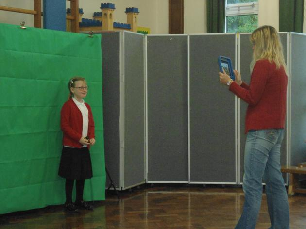 using green screen for a news interview