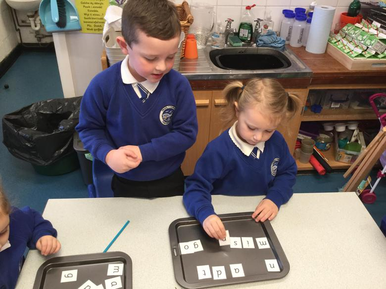 Finding sounds and working with a partner