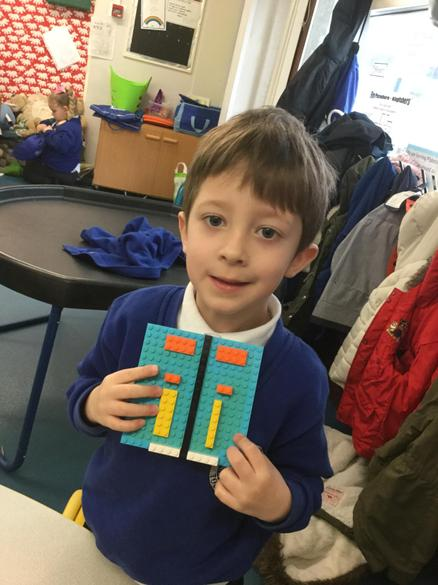 Lego is a fab way to make symmetrical pictures too