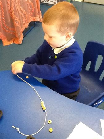 Working on our fine motor skills