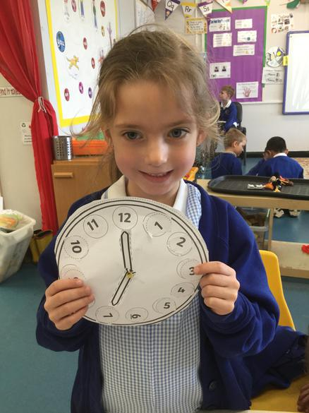 We used the clocks to make times to 'o clock'