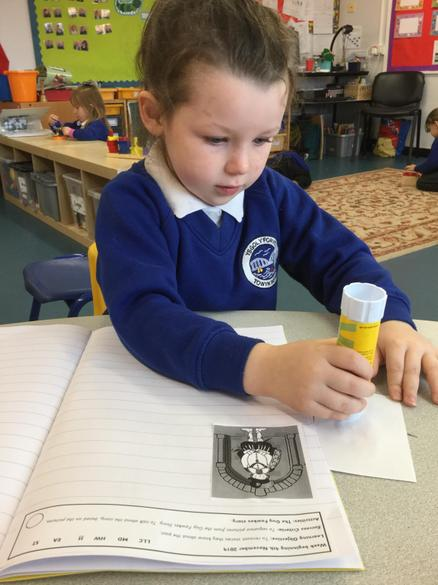 Then we retold the story using pictures