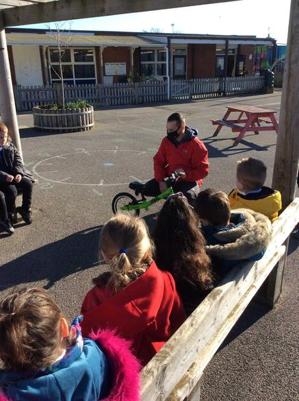 Learning how to use balance bikes!