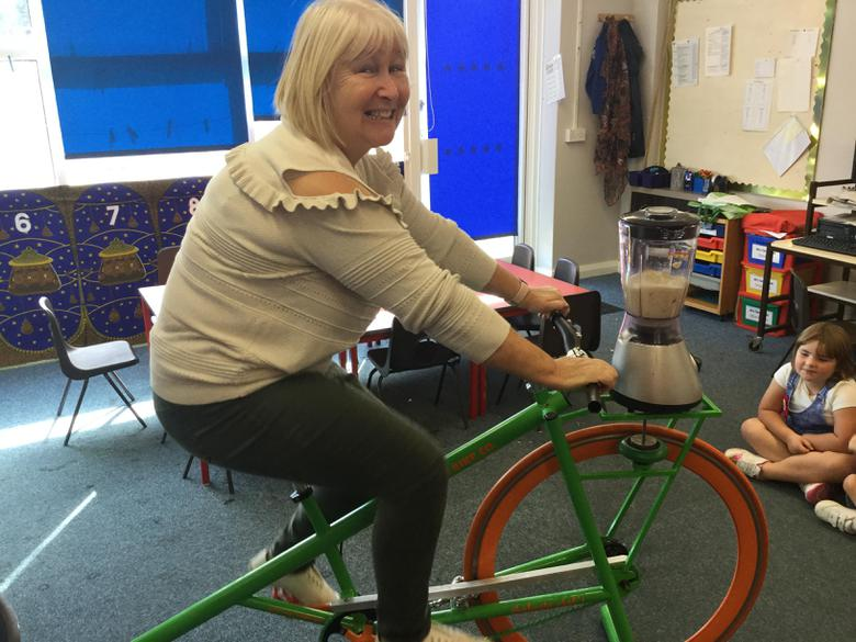 Mrs Dance had to pedal quickly.