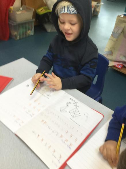 We learn the letter sounds and how to write them