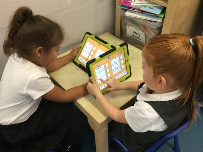 We play lots of maths games on our iPads