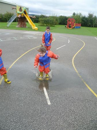 October - Exploring the puddles after the rain