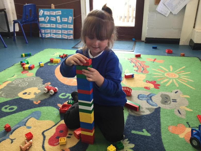 I am building a tall tower and counting the blocks