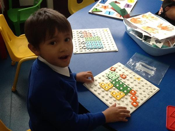 Using Numicon I made a tiger!