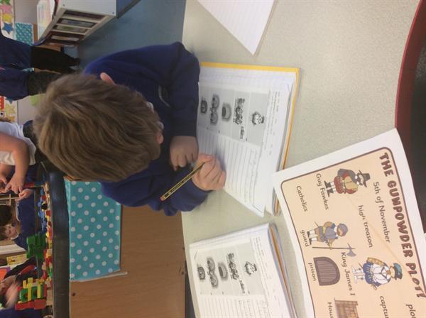 Writing the story of The Gunpowder Plot.