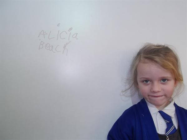Writing our name