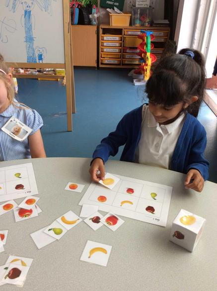 Playing a lotto game, and asking for fruit and vegetables in Welsh!