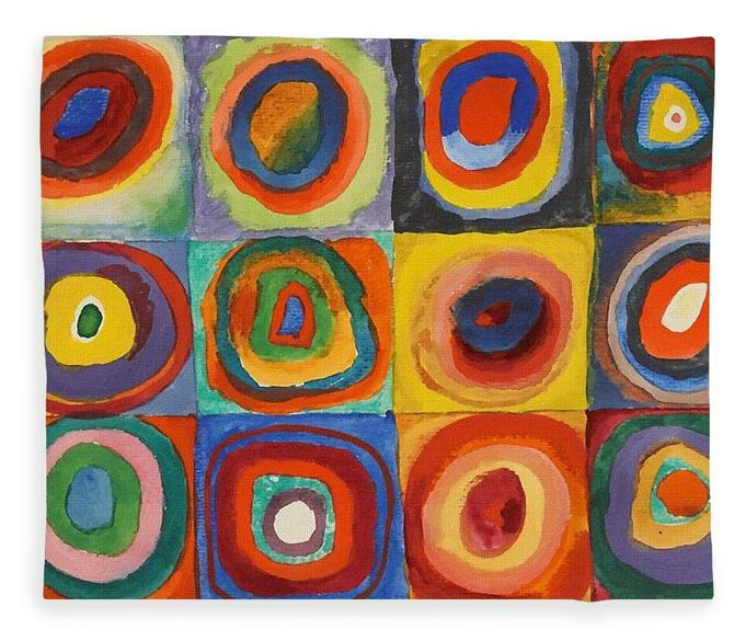 We looked at Kindinsky's 'Circles' picture