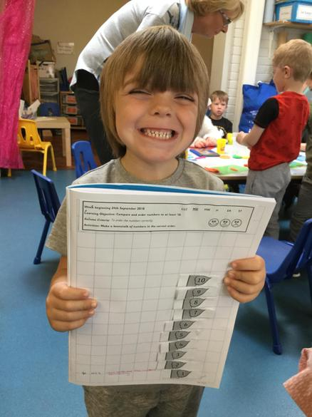 We made our own number beanstalks