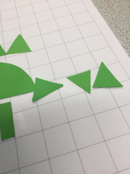 I used 3 triangles to make a tail.