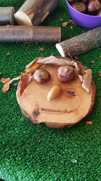 Look at our funny woodland faces.