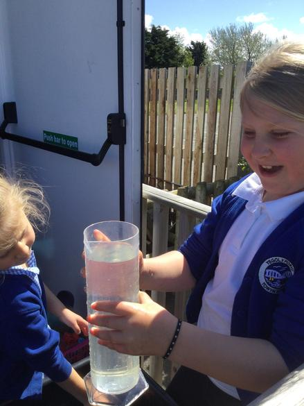 We have been using the water trough to learn about capacity