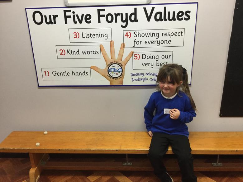 I followed the Y Foryd Values.