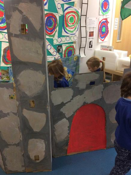 The children helped to make our castle during Welsh week!