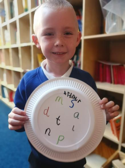 It was great to use paper plates to write on