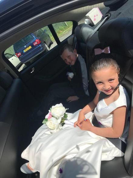 The bride and groom head back to school