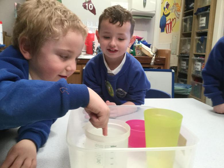 Sorting water into order from cold to hot