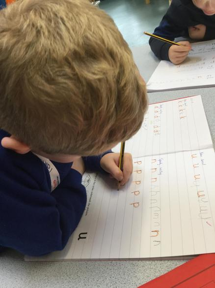 Practising our letter formation