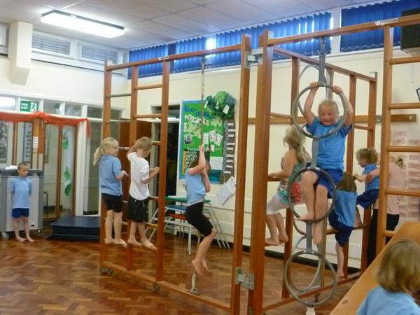 Using equipment in our gymnastics sessions