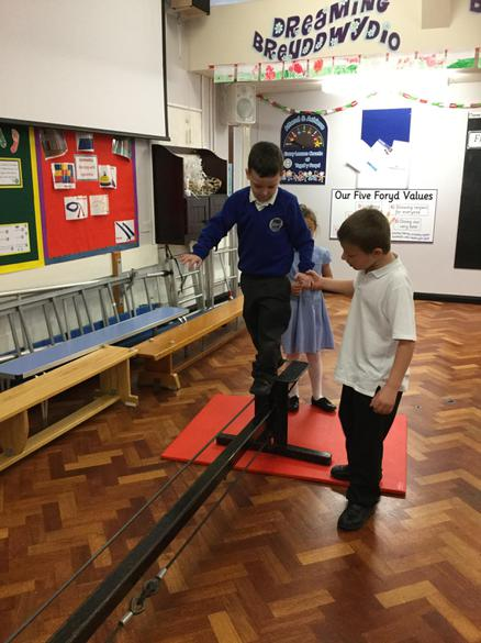 Helping each other on the tight rope