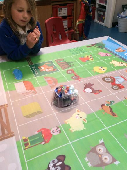Learning about direction with the Beebot!