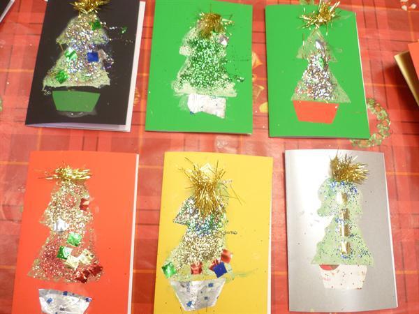 We made Christmas Cards