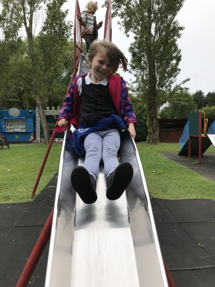 The slide was fantastic