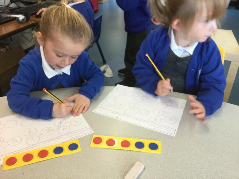 These different coloured counters helped us