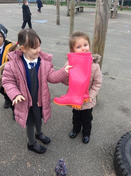 We found big wellies