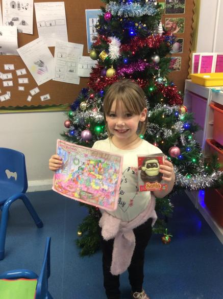 The winner of the Christmas colouring challenge