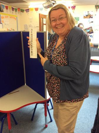 Election day at Ysgol y Foryd